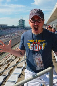 """I'm at the Indy 500!"""