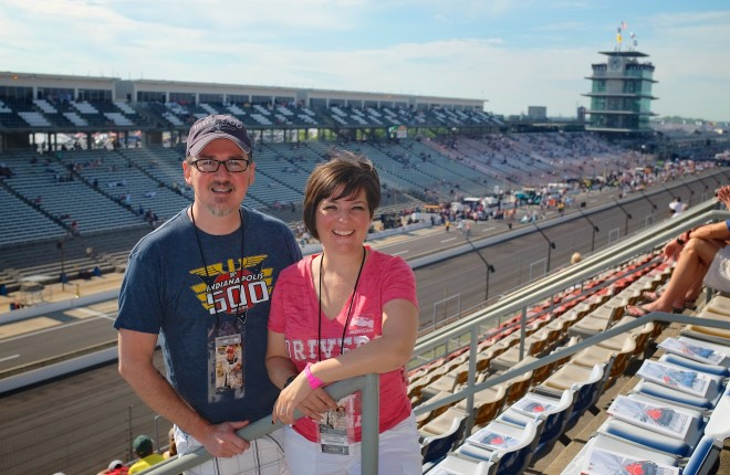 Kay and I at the Indy 500